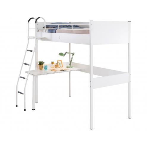 Кровать-чердак White 90х190 (1402)