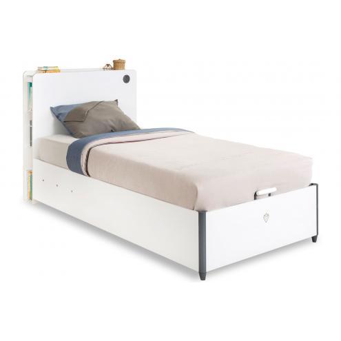 Кровать с подъемным механизмом White 100х200 (1705)