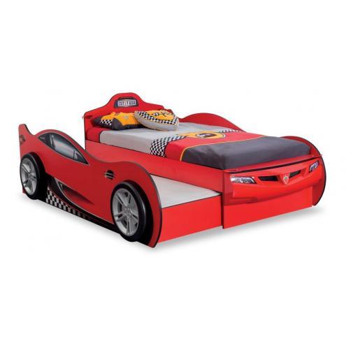Кровать-машина c выдвижной кроватью Race Cup 90х190/90х180 (1305)