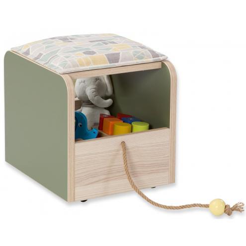 Пуф-ящик для игрушек Montessori (1901)