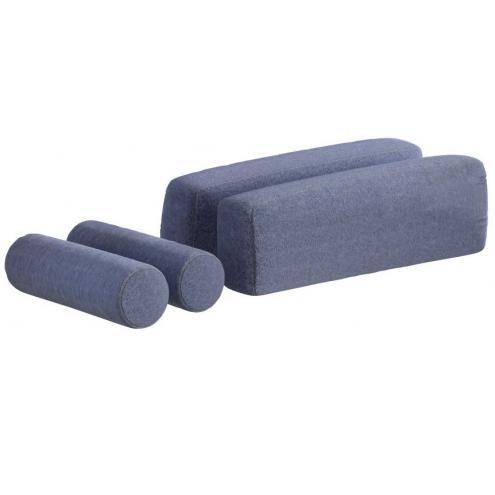 Подушки для кровати-дивана (3462) голубые