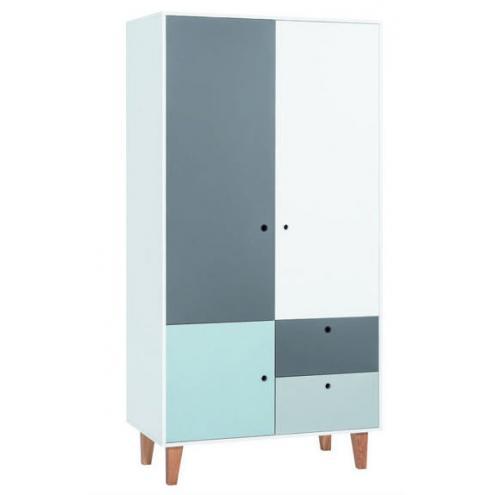 Шкаф 2-х дверный (белый/графит/серый/голубой) Concept