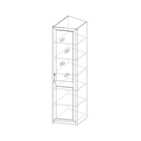 Шкаф для белья, стеклянная дверь 21.012