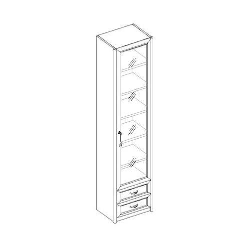 Шкаф для книг 1-дверный с 2 ящиками 21.041