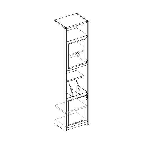 Шкаф для книг 2-х дверный, узкий 21.050