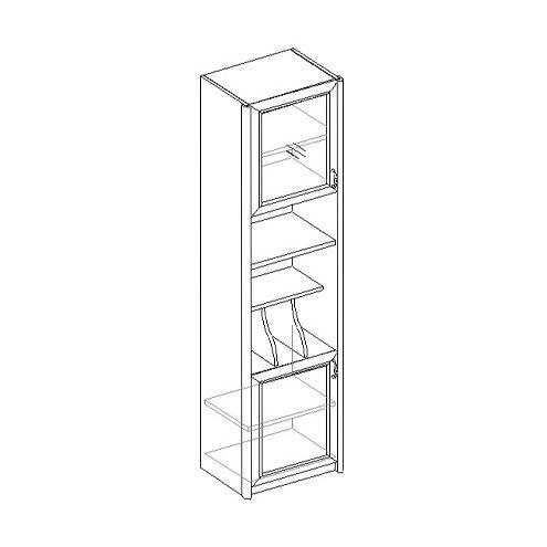 Шкаф для книг 2-х дверный, узкий 21.051