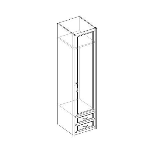 Шкаф для одежды 1-дверный с 2 ящиками 21.021