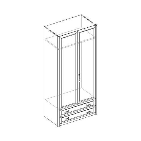 Шкаф для одежды 2-х дверный с 2 ящиками 21.020