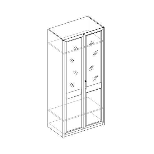 Шкаф для одежды 2-х дверный 21.032