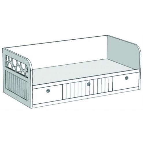 Кровать-диван с 3-мя ящиками VD2Q Velvet