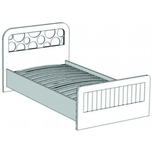 Кровать отдельностоящая с коробами и подъемным механизмом VB2-10 Velvet