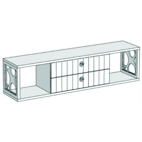 Горка 1-этажная с 2-мя ящиками VG2-140Q Velvet