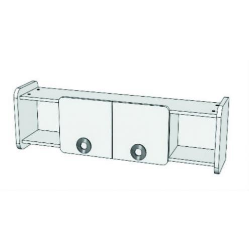 Шкаф навесной двухдверный MN3-13 Клюква Мини