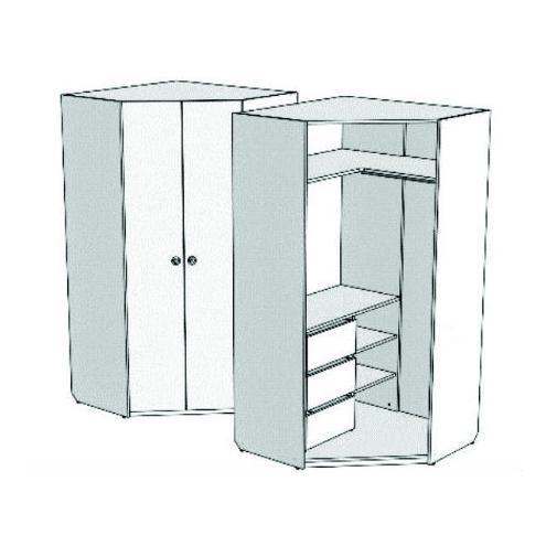 Шкаф-трапеция угловой с 3-мя внутренними ящиками VSU-31Q Velvet