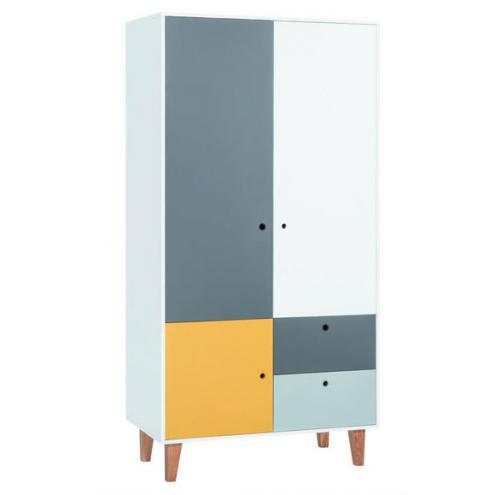 Шкаф 2-х дверный (белый/графит/серый/шафран) Concept