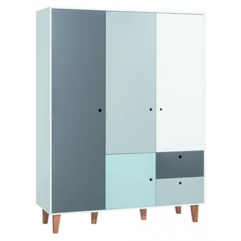 Шкаф 3-х дверный (белый/графит/серый/голубой) Concept
