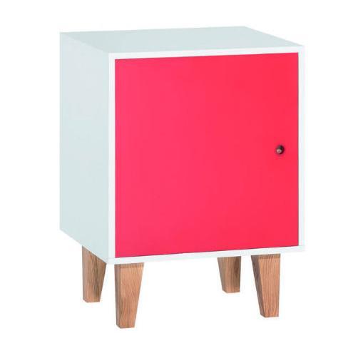 Комод 1-дверный (белый/красный/дуб) Concept