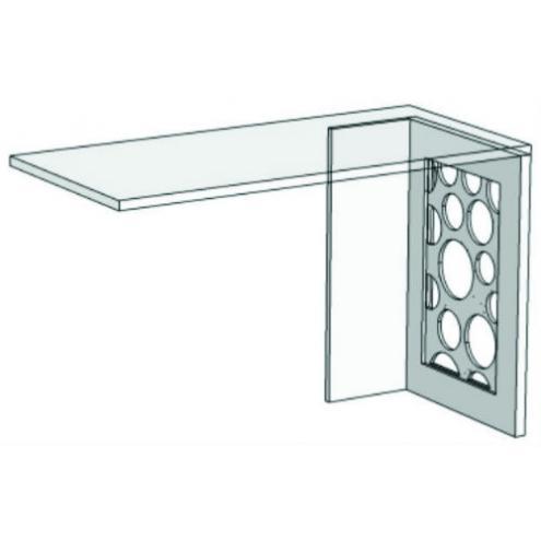 Опора для компьютерного стола с декоративной вставкой VH2 Velvet