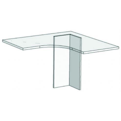 Опора для компьютерного стола угловая VH3 Velvet