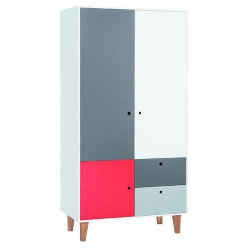 Шкаф 2-х дверный (белый/графит/серый/красный) Concept