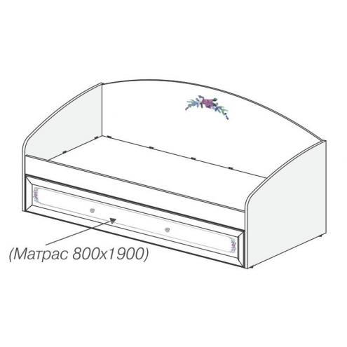 Кровать с выкатным спальным местом Белоснежка (без рисунка) 93K007