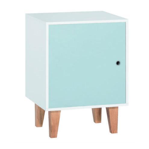 Комод 1-дверный (белый/голубой/дуб) Concept
