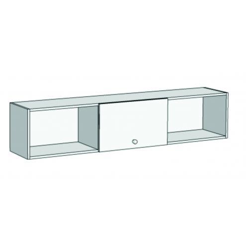 Шкаф навесной с 1 фасадом и 3 секциями A13-110 с рисунком