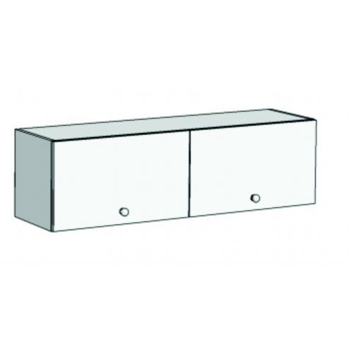 Шкаф навесной с 2 фасадами 2 секциями A22-110 с рисунком