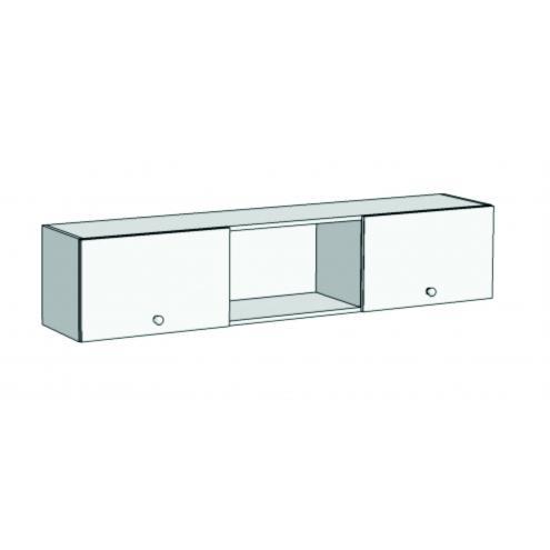 Шкаф навесной с 2 фасадами и 3 секциями Авто А23-110 с рисунком