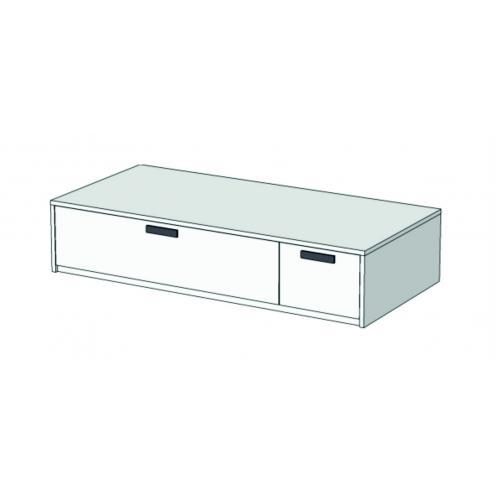 Кровать-диван с 2 ящиками Junior BS-02Q BSL-02Q L/R с рисунком