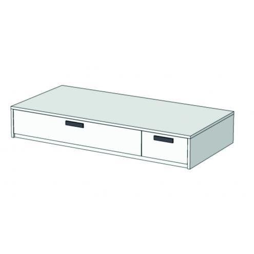 Кровать-диван с 2 ящиками Junior BSS-02Q с рисунком