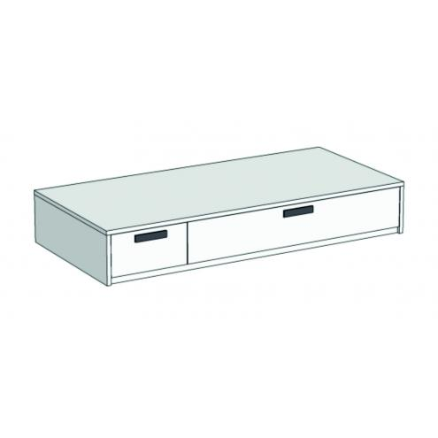 Кровать-диван с 2 ящиками Junior BSS-02Q, BSSL-02Q