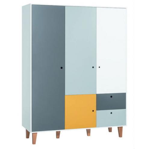 Шкаф 3-х дверный (белый/графит/серый/шафран) Concept
