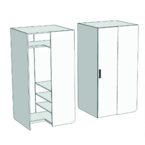 Шкаф-гардероб угловой прикроватный Junior CC-011 с рисунком