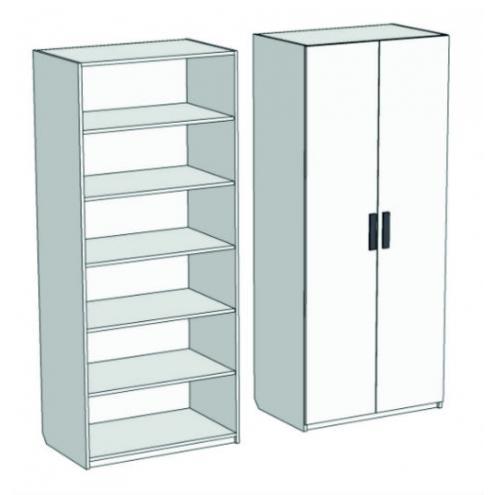 Шкаф 2-дверный с полками Junior CL-0170