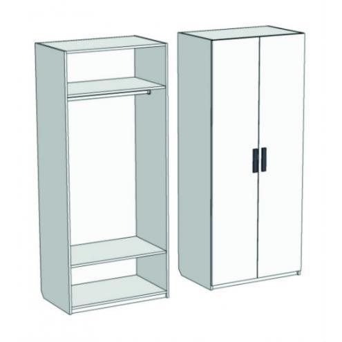 Шкаф 2-х дверный со штангой Junior CL-0270 с рисунком
