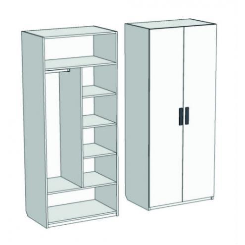 Шкаф 2-х дверный комбинированный Junior CL-03, CLH-03
