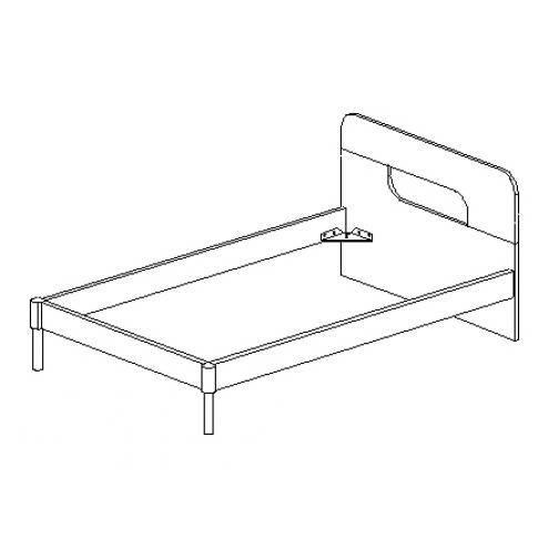 Кровать под матрас 120*200 30.394
