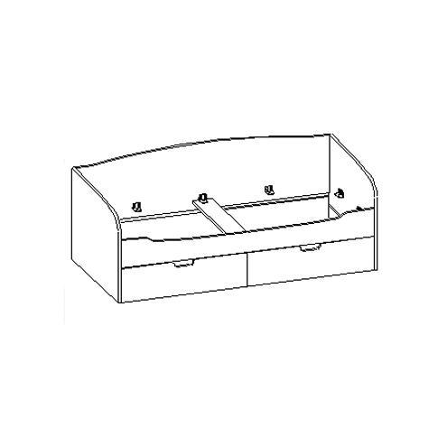 Кровать с ящиками 30.200