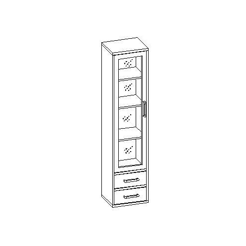 Шкаф для книг с оргстеклом 30.084