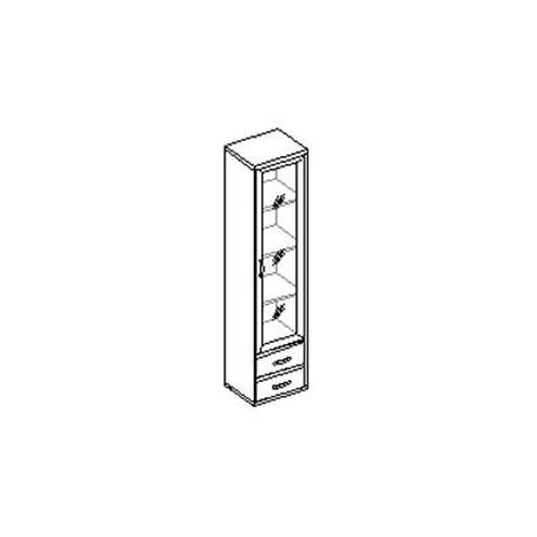 Шкаф для книг со стеклом 30.081