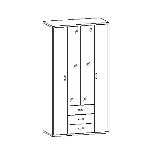 Шкаф для одежды 30.110