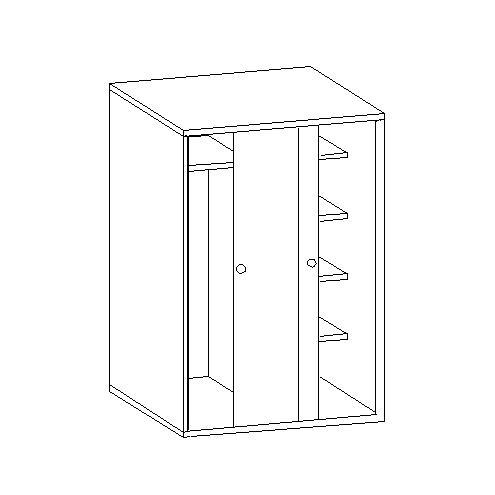 Шкаф для одежды под верхнюю кровать 30.471