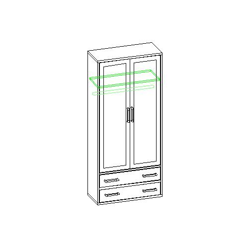 Шкаф для одежды 30.142