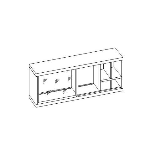 Шкаф настенный с оргстеклом 30.223