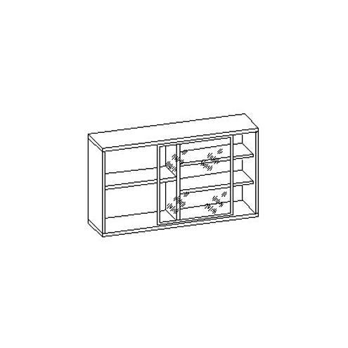 Шкаф настенный с оргстеклом 30.221