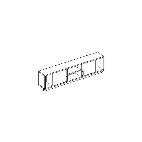 Шкаф настенный с оргстеклом 30.371