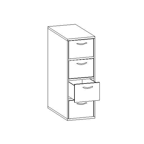 Шкаф с ящиками под верхнюю кровать 30.480