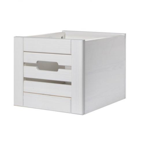 Ящик для шкафа (стеллажа) белый воск Бейли