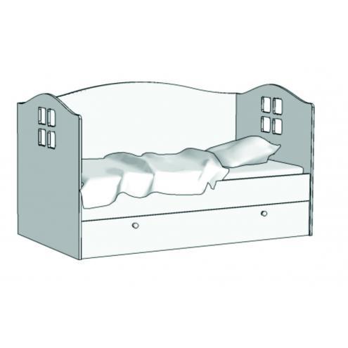 Кровать Домик (с ящиком на шариковых направляющих) KD-16Q